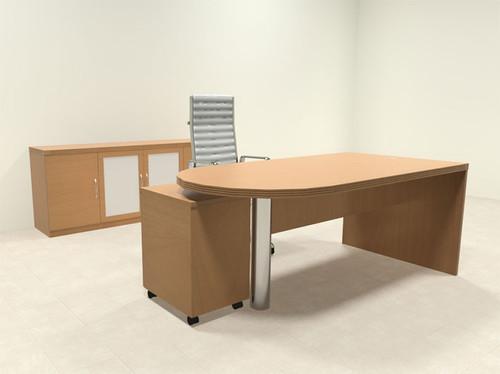 3pc Modern Contemporary Executive Office Desk Set, #RO-ABD-D28