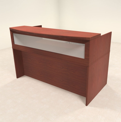 2pc Modern Contemporary Glass Reception Desk Set, #RO-ABD-R2