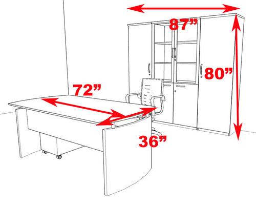 5pc Modern Contemporary Executive Office Desk Set, #RO-NAP-D14