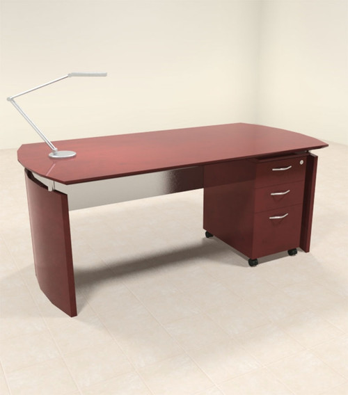 2pc Modern Contemporary Executive Office Desk Set, #RO-NAP-D2