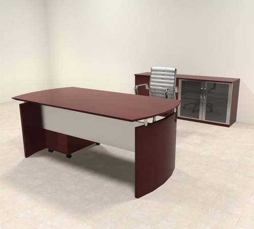 3pc Modern Contemporary Executive Office Desk Set, #RO-NAP-D5