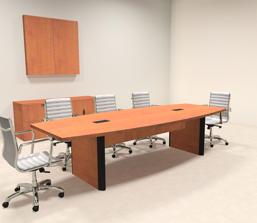 Modern Boat Shaped 10' Feet Conference Table, #OF-CON-CP1