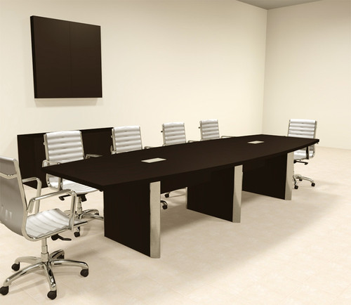 Modern Boat Shaped 12' Feet Conference Table, #OF-CON-CP10