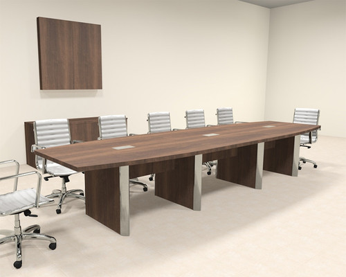 Modern Boat Shaped 14' Feet Conference Table, #OF-CON-CP14