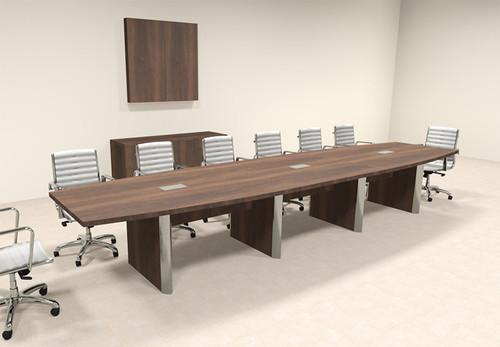 Modern Boat Shaped 16' Feet Conference Table, #OF-CON-CP19