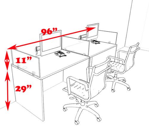 Two Person Modern Divider Office Workstation Desk Set, #CH-AMB-SP63