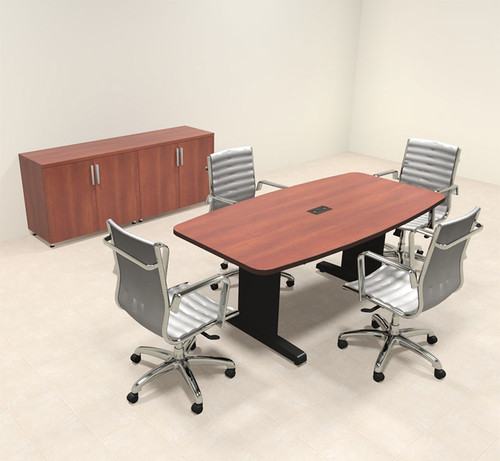 Modern Boat Shaped 6' Feet Conference Table, #MT-CSD-C10