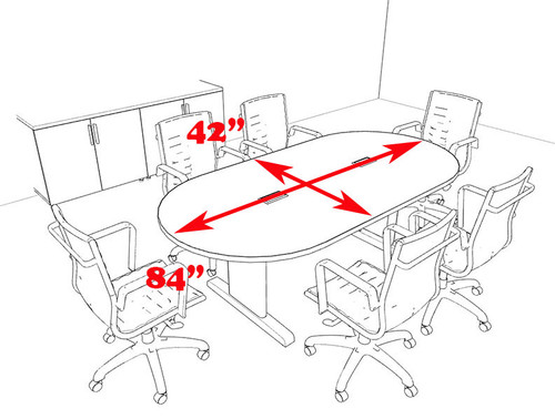 Modern Racetrack 7' Feet Conference Table, #MT-CSD-C35