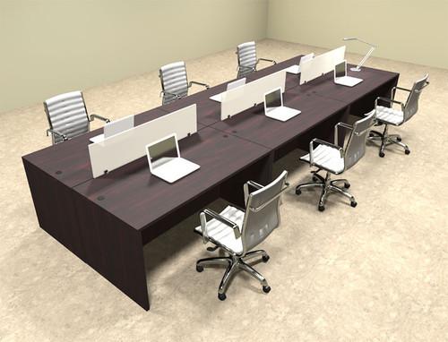 Six Person Modern Divider Office Workstation Desk Set, #OT-SUL-FP11