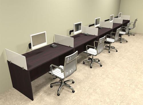 Five Person Divider Modern Office Workstation Desk Set, #OT-SUL-SP15