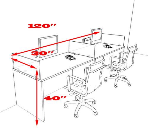 Two Person Divider Modern Office Workstation Desk Set, #OT-SUL-SP22