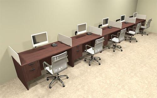 Five Person Divider Modern Office Workstation Desk Set, #OT-SUL-SP34