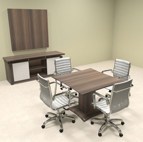 """Modern Contemporary 42"""" Square Conference Table, #MT-STE-C2"""