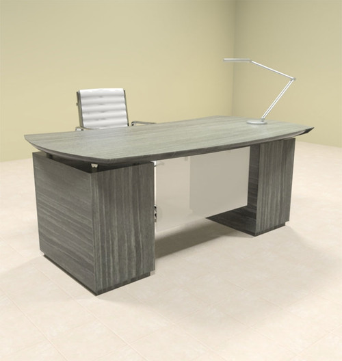3pc Modern Contemporary Executive Office Desk, #MT-STE-D1