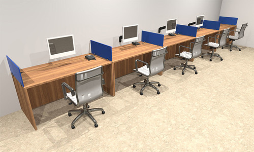 Five Person Blue Divider Office Workstation Desk Set, #OT-SUL-SPB13