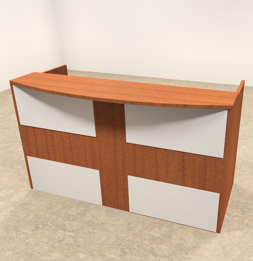 2pc Rectangular Modern Acrylic Panel Office Reception Desk, #OT-SUL-R13