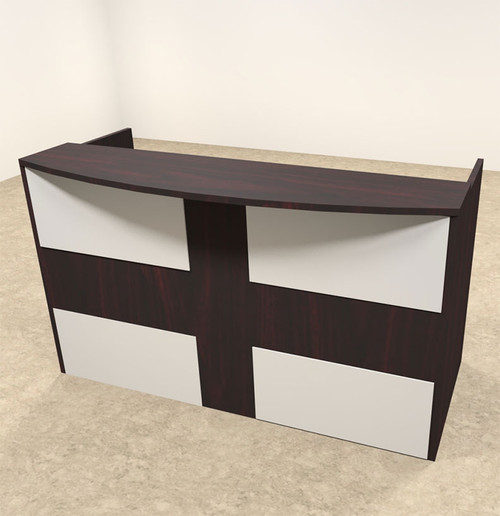 2pc Rectangular Modern Acrylic Panel Office Reception Desk, #OT-SUL-R15