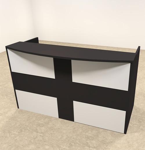 2pc Rectangular Modern Acrylic Panel Office Reception Desk, #OT-SUL-R16
