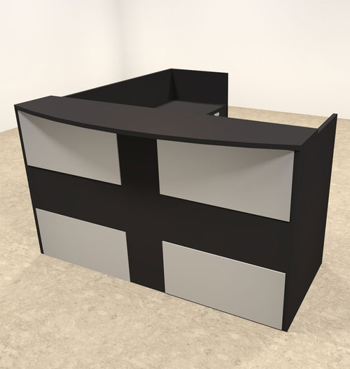 3pc L Shaped Modern Acrylic Panel Office Reception Desk, #OT-SUL-R24