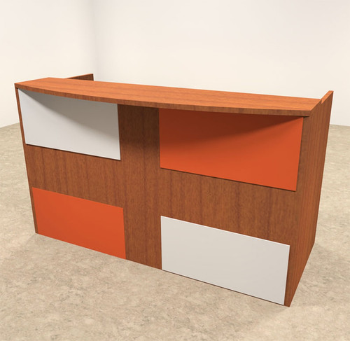 2pc Rectangular Modern Acrylic Panel Office Reception Desk, #OT-SUL-RM37