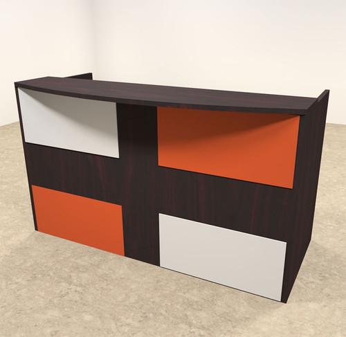 2pc Rectangular Modern Acrylic Panel Office Reception Desk, #OT-SUL-RM39