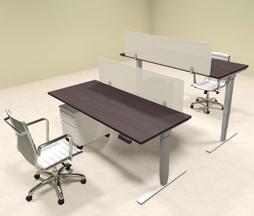 Two Persons Modern Power Adjustable Divider Workstation, #OF-CON-HP17