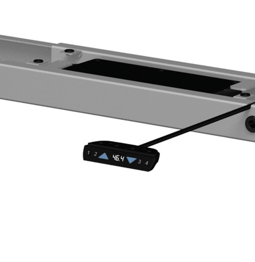 Four Persons L Shaped Power Adjustable Divider Workstation, #OF-CON-HP45