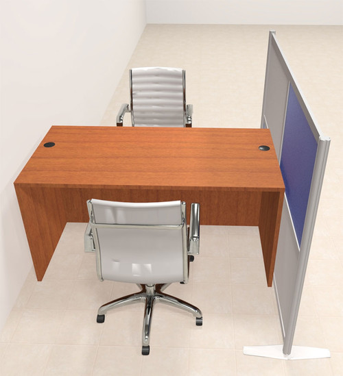 One Person Workstation w/Acrylic Aluminum Privacy Panel, #OT-SUL-HPB13