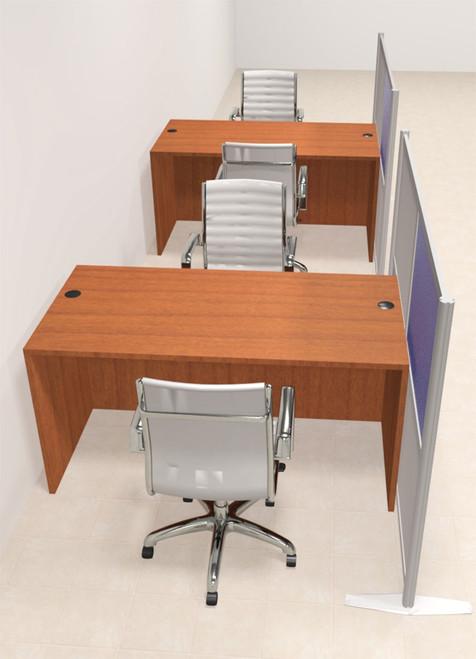 Two Person Workstation w/Acrylic Aluminum Privacy Panel, #OT-SUL-HPB17