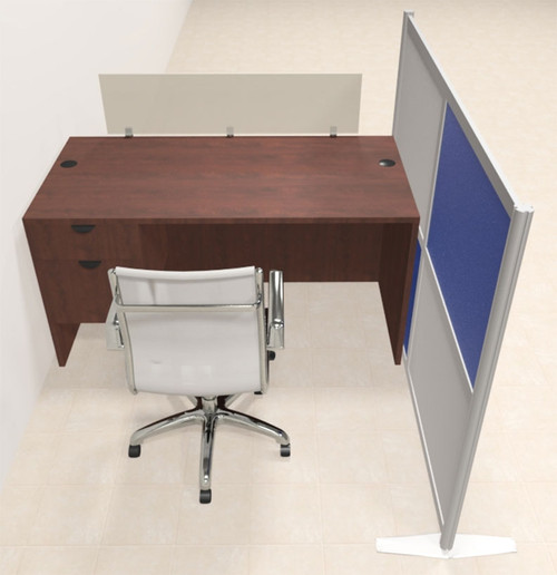 One Person Workstation w/Acrylic Aluminum Privacy Panel, #OT-SUL-HPB38