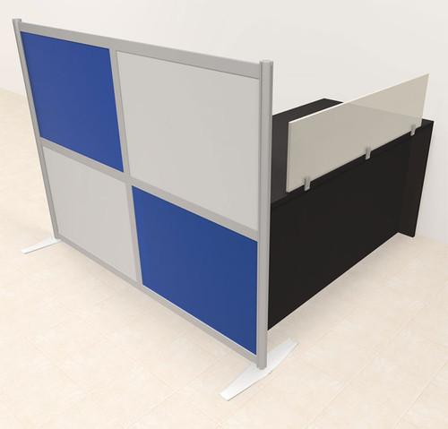 One Person Workstation w/Acrylic Aluminum Privacy Panel, #OT-SUL-HPB4