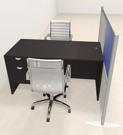 One Person Workstation w/Acrylic Aluminum Privacy Panel, #OT-SUL-HPB52