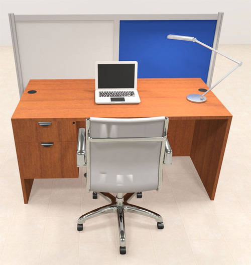 One Person Workstation w/Acrylic Aluminum Privacy Panel, #OT-SUL-HPB61