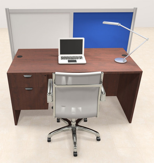 One Person Workstation w/Acrylic Aluminum Privacy Panel, #OT-SUL-HPB62