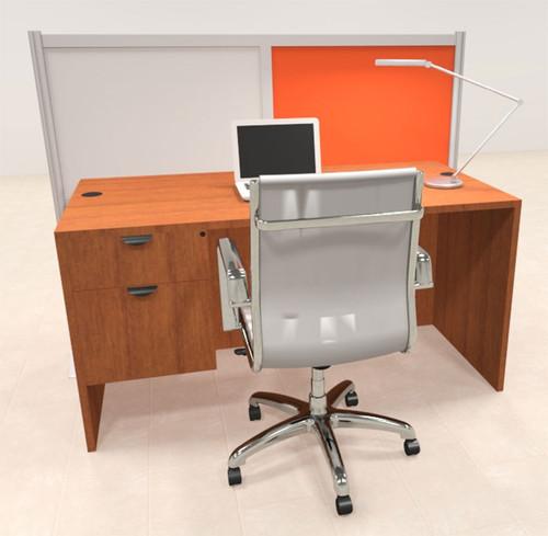 One Person Workstation w/Acrylic Aluminum Privacy Panel, #OT-SUL-HPO133