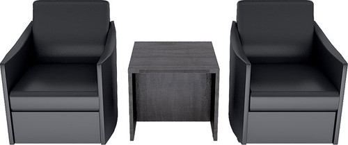 2 Guest Chairs + 1 End Table, #CH-AMB-CAB11