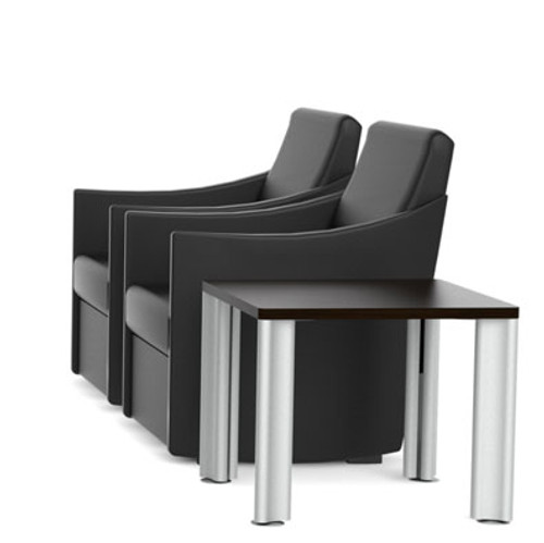 2 Guest Chairs with Conffee Table, #CH-VER-CAB7