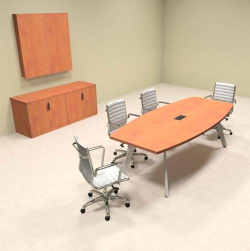 Modern Boat shaped 8' Feet Conference Table, #OF-CON-CV2