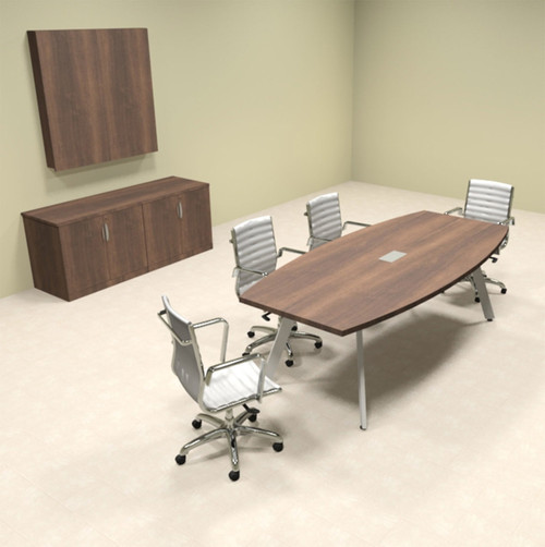Modern Boat shaped 8' Feet Conference Table, #OF-CON-CV3