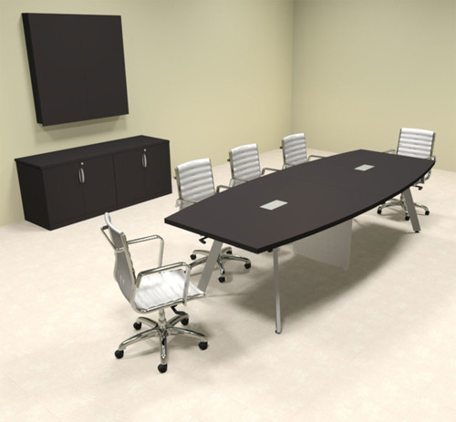 Modern Boat shaped 10' Feet Conference Table, #OF-CON-CV13