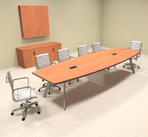 Modern Boat shaped 12' Feet Conference Table, #OF-CON-CV16