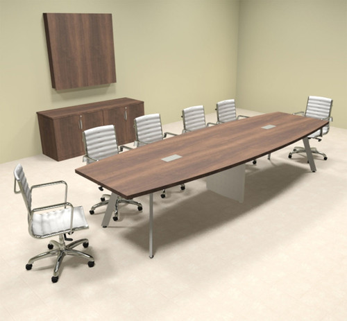 Modern Boat shaped 12' Feet Conference Table, #OF-CON-CV17