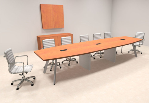 Modern Boat shaped 14' Feet Conference Table, #OF-CON-CV23