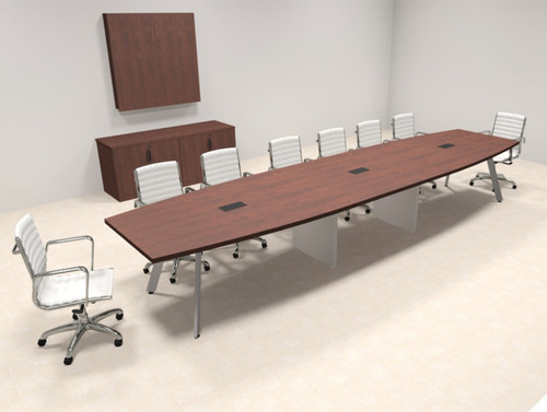Modern Boat shaped 16' Feet Conference Table, #OF-CON-CV32