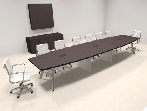 Modern Boat shaped 16' Feet Conference Table, #OF-CON-CV33