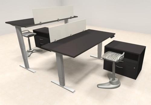 Two Persons Modern Power Adjustable Divider Workstation, #AL-OPN-HP36