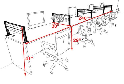 Four Person Modern Aluminum Organizer Divider Office Workstation, #OT-SUL-SPW10