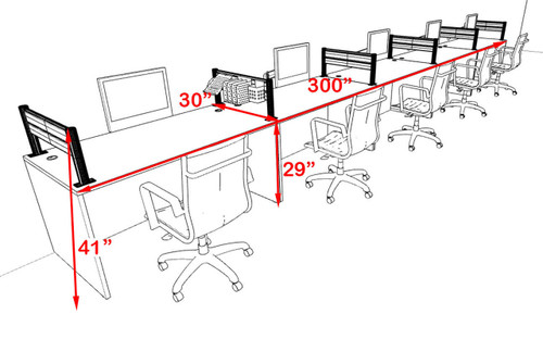 Five Person Modern Aluminum Organizer Divider Office Workstation, #OT-SUL-SPW13