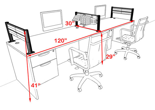 Two Person Modern Aluminum Organizer Divider Office Workstation, #OT-SUL-SPW22