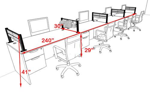 Four Person Modern Aluminum Organizer Divider Office Workstation, #OT-SUL-SPW31